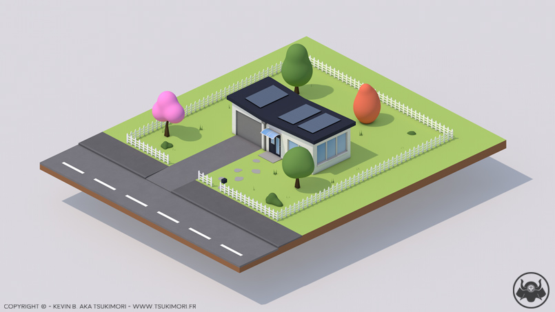 Simple home with Cinema 4D