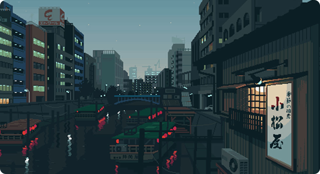 The Japanese daily life in Pixel Art