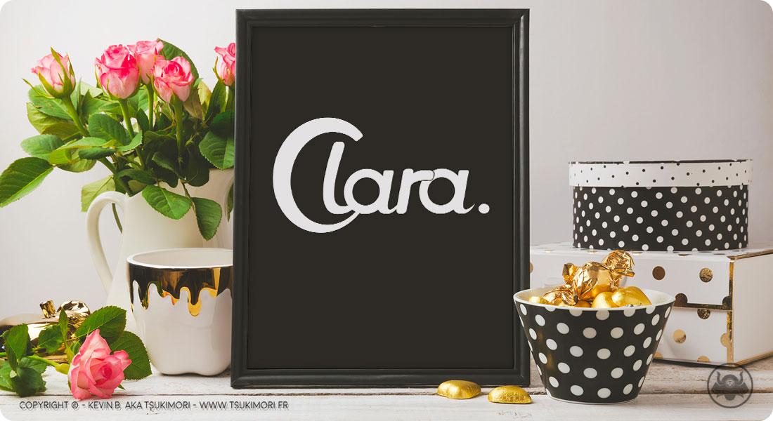 Typography Clara - Sketchbook by Tsukimori - Featured