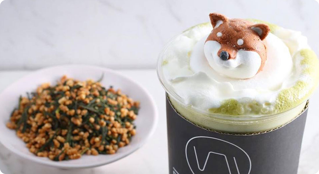 When the Shiba Inu invite oneself into your cup!