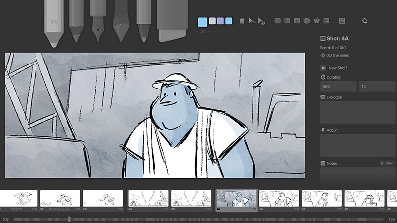Create storyboards thanks to Storyboarder - Sketchbook by Tsukimori